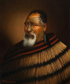 Gottfried Lindauer Paora Tuhaere, 1895 x cm, oil on canvas Auckland Art Gallery Toi o Tāmaki, gift of H. Maori People, Tribal People, Ta Moko Tattoo, Maori Tattoos, Tattoo Art, Auckland Art Gallery, Ww1 Posters, Polynesian People, New Zealand Art