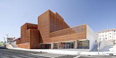 Cor-ten perforated facade | OKE-Ortuella cultural centre | Ortuella, Spain | IMAR - Arquitectura & Metal // Architecture & Metal