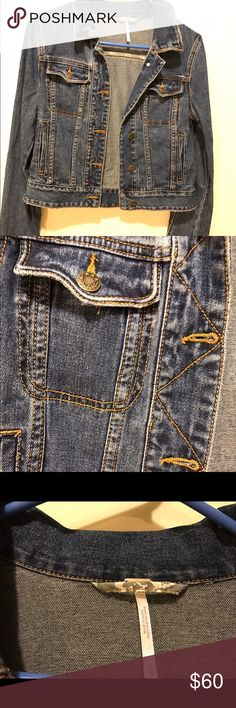 Free People XS fitted denim jacket Free People XS denim coat Free People Jackets & Coats Jean Jackets