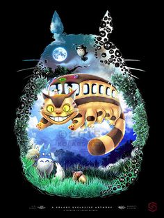 Totoro Miyazaki Anime Inspir Cat Bus and Friends par JP Perez etYou can find Totoro and more on our website.Totoro Miyazaki Anime Inspir Cat Bus and Friends par JP Per. Film Anime, Art Anime, Manga Anime, Hayao Miyazaki, Studio Ghibli Films, Art Studio Ghibli, Howl's Moving Castle, Mononoke, Fantasy Magic
