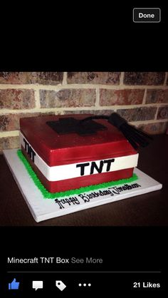 TNT BOX Minecraft Cake