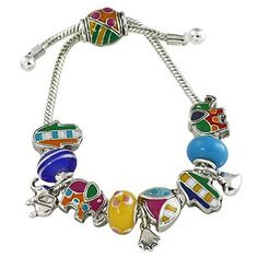 Bright Colored Lucky Theme Designer Style Charm Bracelet PammyJ Bracelet. $21.99. COMES IN FOIL GIFT BOX. GORGEOUS FOR GIFTS. BEADS ARE NOT REMOVABLE. BRAND NEW. CANNOT ADD BEADS. Save 31%!