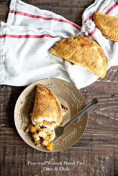 Pear Pie Pockets - individual pies with a tender and flaky crust from dineanddish.net