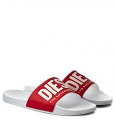 Papuci Plaja Diesel Barbati rosii Diesel, Pool Slides, Mai, Addiction, Sandals, Stuff To Buy, Shoes, Fashion, Slide Sandals