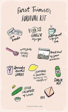 Everything you need to get through your first trimester (minus the cottage cheese!)
