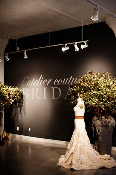l'atelier couture bridal boutique - photo by photogen inc. l & # studio couture bridal bouti Bridal Boutique Interior, Boutique Decor, Boutique Design, A Boutique, Wedding Store, Wedding Dress Shopping, Bridal Gallery, Bridal Decorations, Bridal Stores