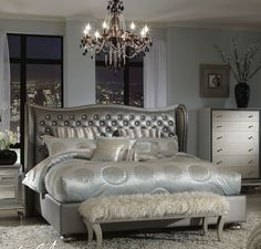 Hollywood swank bedding  michael amini New at Andrews Furniture   Www andrewsfurniture net  Silver BedroomGlam  Bedroom Delightful Hollywood Glamour Luxury Bedding With Modern  . Hollywood Glamour Bedroom. Home Design Ideas