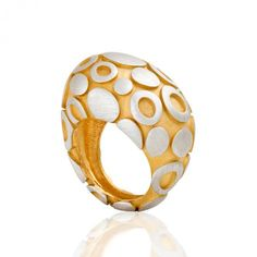 18ct gold and sterling silver ring by Joanna Dahdah