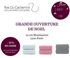 JOUR-J GRANDE OUVERTURE DE NOEL ! #cachemire #ponchos #etole #echarpe #pull #fashion #homme #femme
