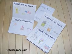 MY FIVE SENSES MINIBOOK  Making a minibook is an interesting way to teach five human senses and revise names of the body parts. This craft activity encourage young students to read and give an oportunity to use their creativity.