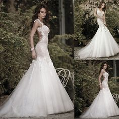 Galia Lahav Bridal Gowns Sexy Mermaid Spaghetti Backless Wedding Dresses Custom