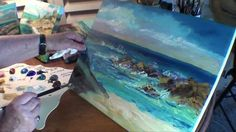 How to Paint:Beach,Seagulls - Marge Kinney Part 3 of Seascape Painting (...