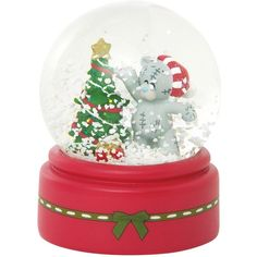 Me To You Christmas Snow Globe (115 DKK) ❤ liked on Polyvore featuring home, home decor, holiday decorations, christmas snow globes, christmas tree snow globe, snow globe, fall home decor y christmas globes