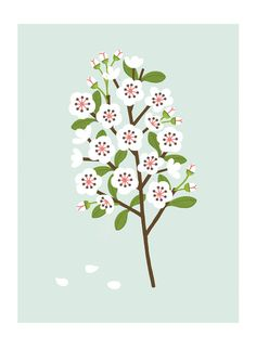 A4 Blossom print by watersounds on Etsy, $18.00