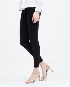 Image 5 of HIGH-HEEL SHINY SANDALS from Zara