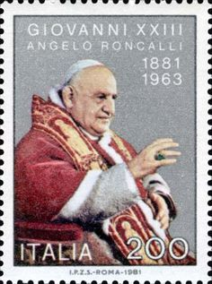 Stamp from Italy commemorating Pope John XXIII