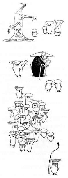 "Tove Jansson - Illustrations for ""Alice in Wonderland"" 19"