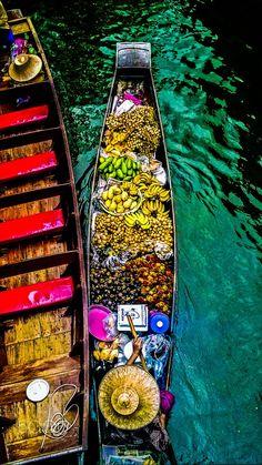 Exotic fruits, Bangkok floating market, Thailand   by David Best on 500px