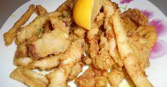 Τα καλαμαράκια είναι ένα υλικό που μου αρέσει, να το μαγειρεύω. Και αυτό γιατί έχω πολλές επιλογές στον τρόπο μαγειρέματος. Τα κάνω τηγανη... Greek Recipes, Fish And Seafood, Finger Foods, Chicken Wings, Recipies, Food And Drink, Appetizers, Meat, Greek Beauty
