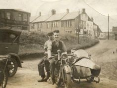 AJS Outfit in Newcastle Classic Motorcycle Pictures