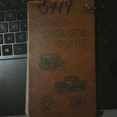 Vintage 1959 Drivers Operator Guide