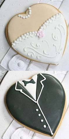Wedding cookies- in clear little bags as favors