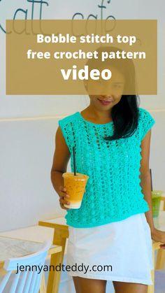 Quick Crochet, Free Crochet, Crochet Top, Crochet Cardigan Pattern, Crochet Blouse, Crochet T Shirts, Crochet Clothes, Crochet Designs, Crochet Patterns