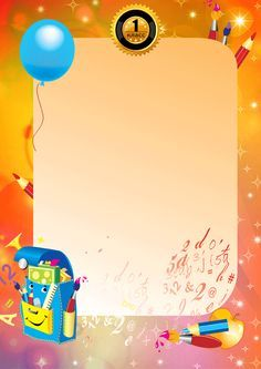 Diplomas de preescolar Graduation Invitations, Diy Invitations, School Border, Back To School Gifts For Teachers, Kids Background, Preschool Graduation, Borders And Frames, Border Design, First Day Of School