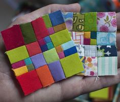 In love with these teeny tiny squares!