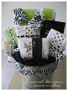 Taste of minnesota gift basket ole lena fortune cookies custom wrapped animal print theme gift basket includes gifts for both human fur baby negle Gallery