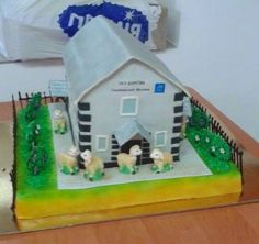 Cake made for dedication of a Kingdom Hall in Ukraine.