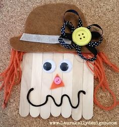 Button Up a Scarecrow Decoration This Fall