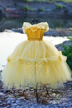 Belle inspired tutu dress. $38.00, via Etsy. Adorable.