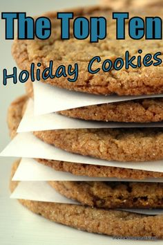 The Top Ten Holiday Cookies