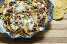 Pioneer Woman's Cowboy Nachos - for leftover brisket!! Must cook her ...