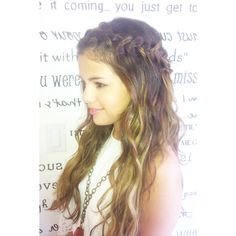 Copy Selena Gomez and Nina Dobrev's cool halo braid ❤ liked on Polyvore featuring hair, selena gomez, hairstyles, selena and hair styles