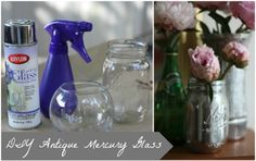 DIY Antiqued Mercury Mirror Glass. This brand works best. Great idea for creating mirrors form old window panes too.