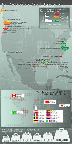 Coal export map - Southeast Coal Exports: A Climate Shell Game? http://ecowatch.org/2013/coal-exports-climate-game/#