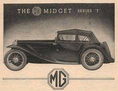 History of the MG TD - The MG T-types - Web page regarding to the history of the MG TD Mg Midget, Car Brands, Classic Cars Online, Over The Years, Automobile, History, Google Search, Illustration, Car