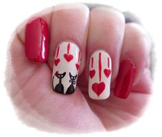 #NailArt - #vernis - #manucure - Un amour de chat!