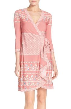 BCBGMAXAZRIA 'Adele' Print Jersey Wrap Dress available at #Nordstrom