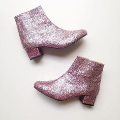 Edie Multicolor Glitter Heeled Ankle Boots (Handmade to Order) High Heel Boots, Heeled Boots, Shoe Boots, High Heels, Glitter Fade Nails, Glitter Heels, Glitter Bath Bomb, Glitter Wine, Vegan Shoes