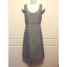 """Tory Burch Blue & White Sleeveless Sheath Dress Chic blue and white patterned sleeveless sheath dress has a scoop neckline, hidden back zipper with hook and eye closure, front pockets, and is fully lined. Goes easily from work to dinner. 100% cotton. Measurements: bust 17.25"""", waist 15.25"""", hips 18"""", length 37.25"""". In excellent condition! Tory Burch Dresses"""