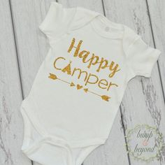 Happy Camper Shirt Camping Shirt Little Glamper Funny Baby Clothes Happy Camper T-Shirt Summer Baby Girl Shirt 221 #Baby #baby_clothes_funny #baby_girl_clothes