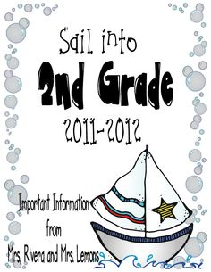 {Curriculum Night} First Day of School Activities & Sample Parent Packet summer writing paper