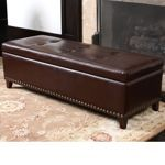 Baltimore Bonded Leather Storage Ottoman