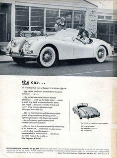 1956 Jaguar XK-140 Advertisement Road & Track February 1956