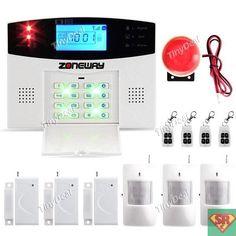 Wireless GSM SMS Home Burglar Security Alarm System Detector Sensor Call SAL-520264