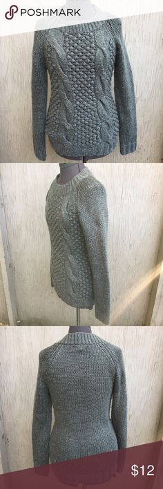 Mossimo Grey Sweater NO TRADES. Mossimo grey sweater. Heavy and warm. 30% wool. Pulling from normal wash and wear. Has some stretchy. Size medium. Mossimo Supply Co. Sweaters Crew & Scoop Necks