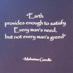 Gandhi's wise words